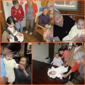 20141127産休中の職員が、赤ちゃんを連れて遊びに来てくれました。