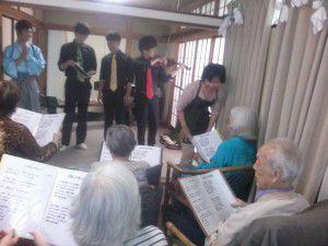 20150620バイオリンとのコラボを披露して頂きました。