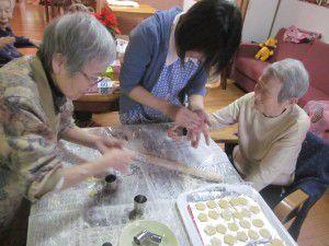 20141214皆さんでクッキー作りをしました!2