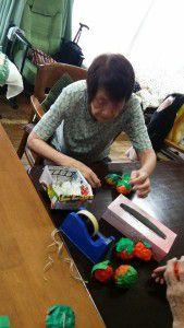 20151012利用者様に柿を作って頂きました♪3