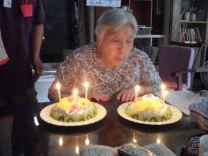 20150916-97歳のお誕生日を迎えられた利用者様のお祝いをさせて頂きました♪2